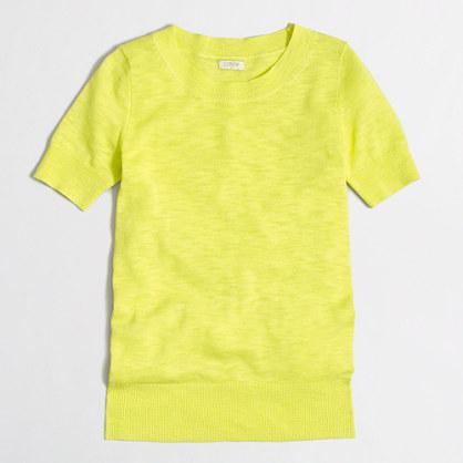 Short-sleeve cotton sweater T-shirt