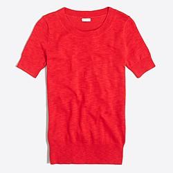 Short-sleeve cotton sweater