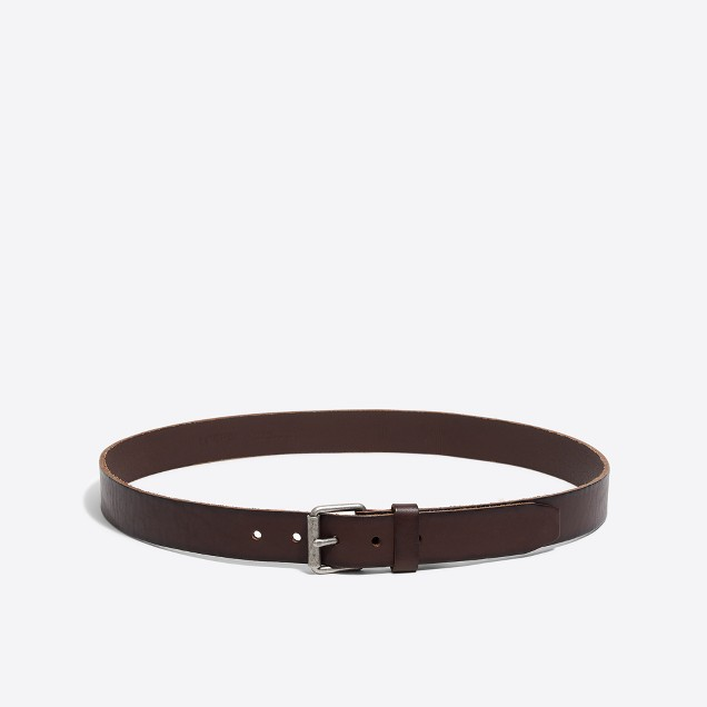 Washed leather belt