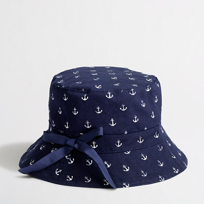 Factory girls' printed bucket hat