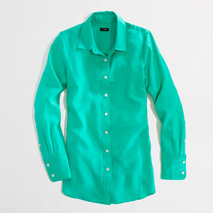 Factory classic button-down shirt in linen : Button-Ups | J.Crew ...