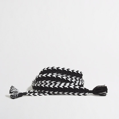 Chevron fabric belt