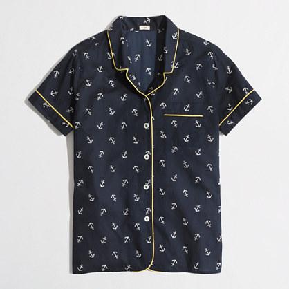 Factory anchor sleep shirt