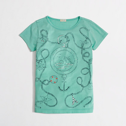 Factory girls' sailor keepsake tee