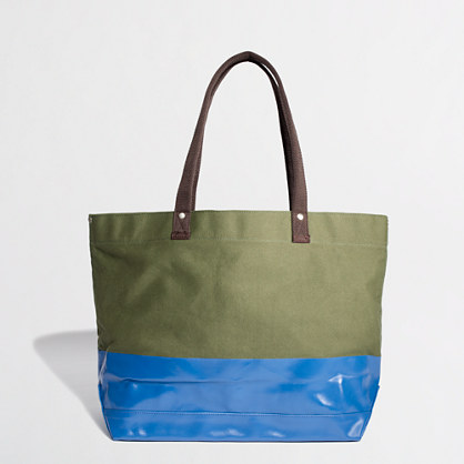 Factory colorblock canvas tote