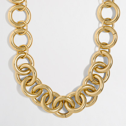 Gold-plated chain link necklace
