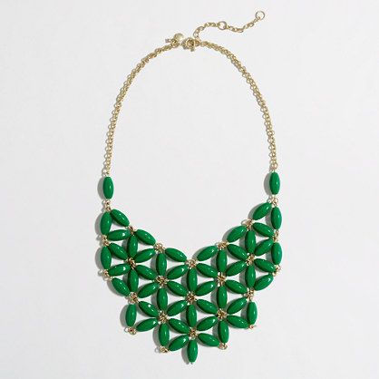 Factory abstract flower bib necklace