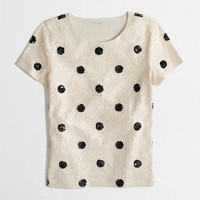 Factory spotted sequin tee