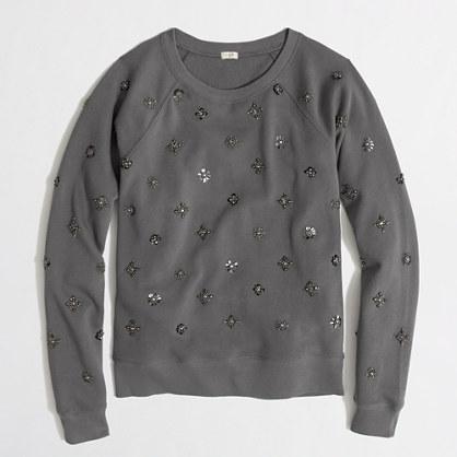 Factory beaded sweatshirt