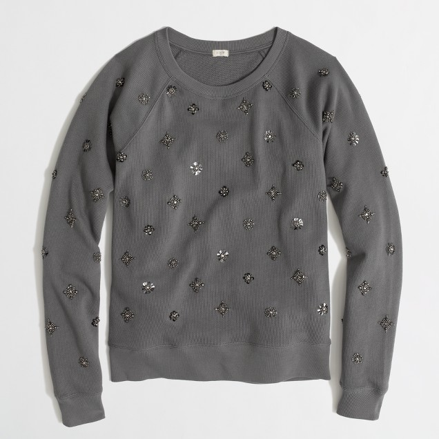 Factory beaded sweatshirt