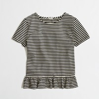 Factory stripe peplum tee
