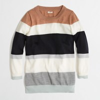 Factory Charley sweater in colorblock stripe