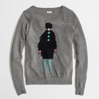 Factory warmspun intarsia French lady sweater