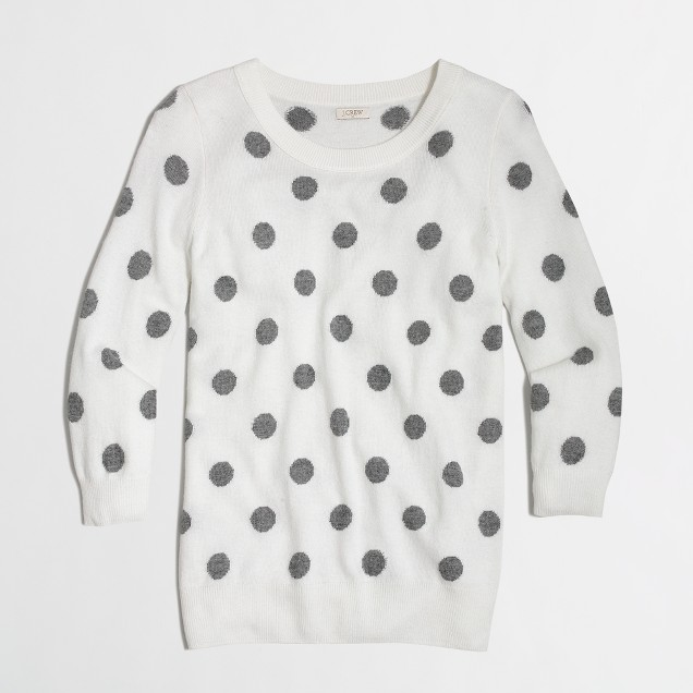 Factory intarsia Charley sweater in polka dot