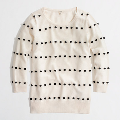 Factory Charley sweater in pom-pom dot