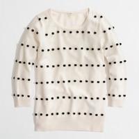 Factory Charley sweater in pom-pom dot