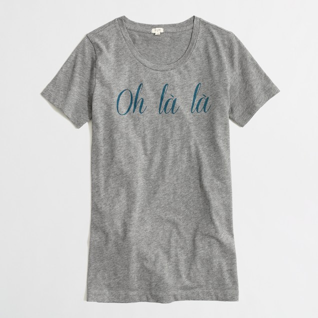 Factory oh la la graphic tee