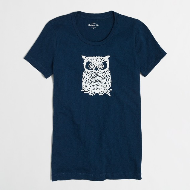 Factory owl collector tee