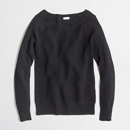 Factory warmspun waffle crewneck sweater