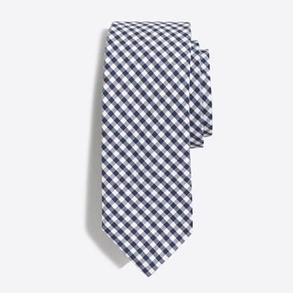 Gingham tie