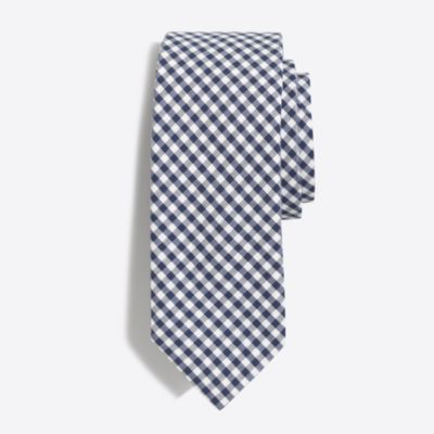 Gingham tie factorymen ties & pocket squares c