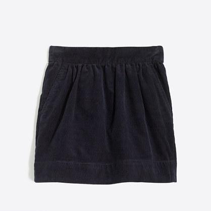 Girls' cord skirt