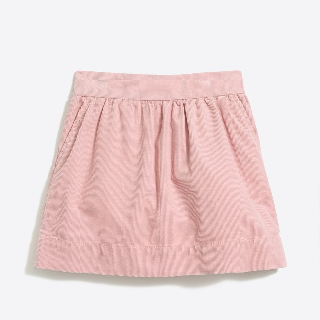 Girls' cord skirt