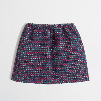Factory girls' bright tweed skirt