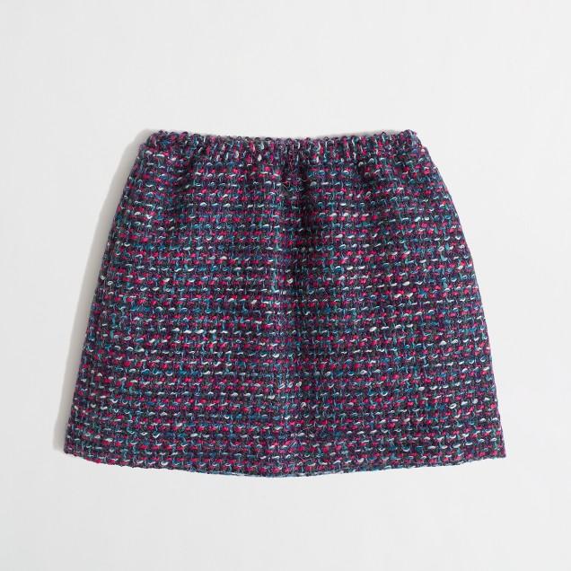 Factory girls' bright tweed skirt