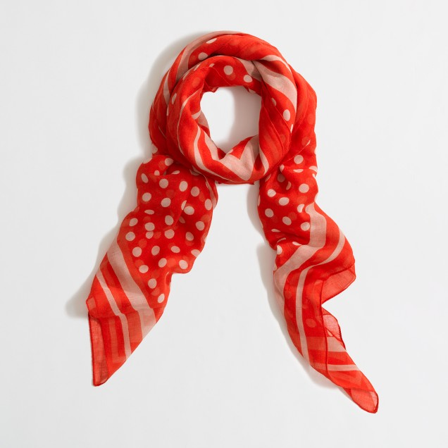 Factory printed square scarf
