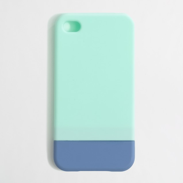 Factory colorblock case for iPhone 4