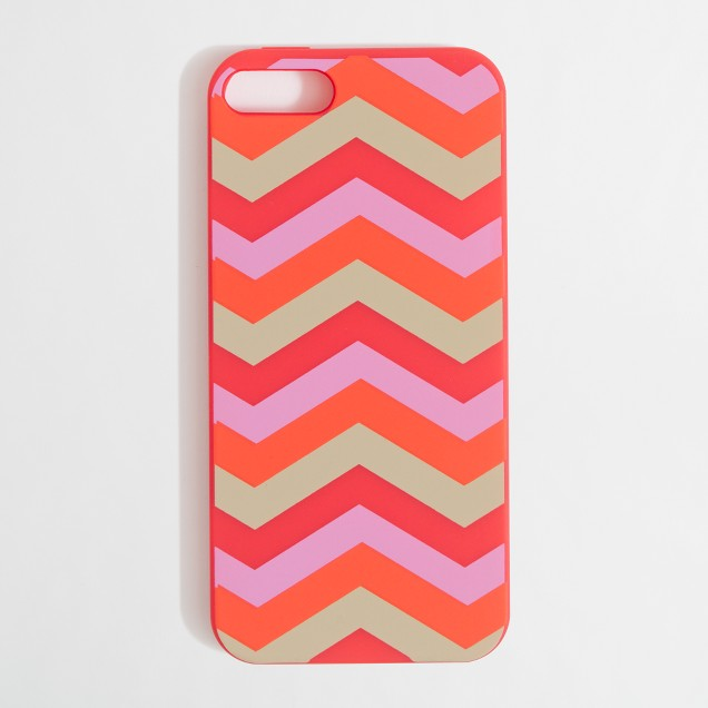 Factory chevron stripe case for iPhone 5