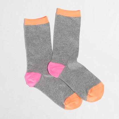 Factory tipped trouser socks