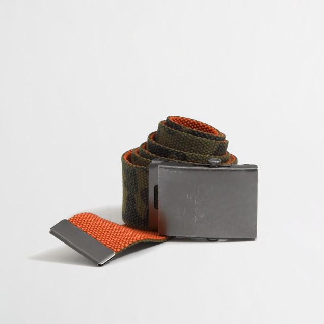 Factory camo belt