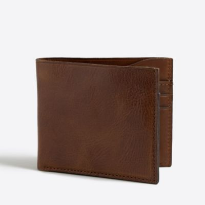 Leather billfold wallet factorymen accessories c
