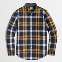 Factory washed shirt in vintage navy tartan