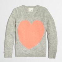 Girls' heart sweater
