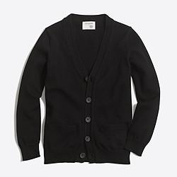 Boys' cotton cardigan sweater