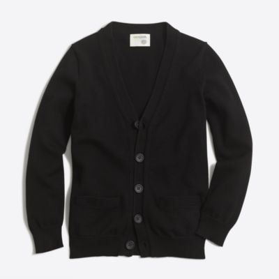 Boys' cotton cardigan sweater