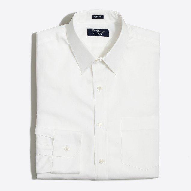 Factory tall Thompson point-collar dress shirt in white