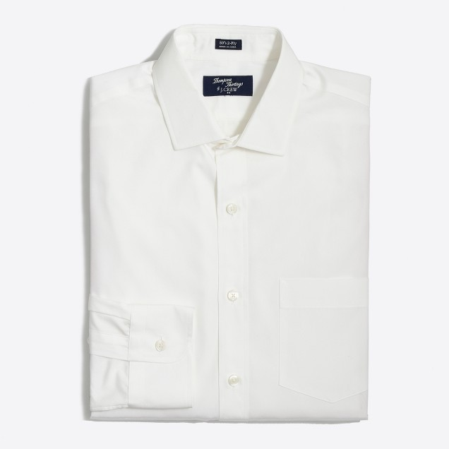 Tall Thompson dress shirt in white