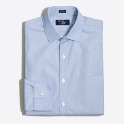 Thompson dress shirt in end-on-end factorymen slim c