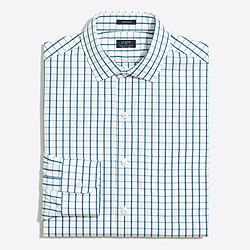 Factory Thompson spread-collar dress shirt in grid