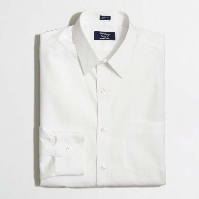 Tall wrinkle-free Voyager dress shirt in white