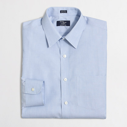 Tall wrinkle-free Voyager dress shirt in end-on-end