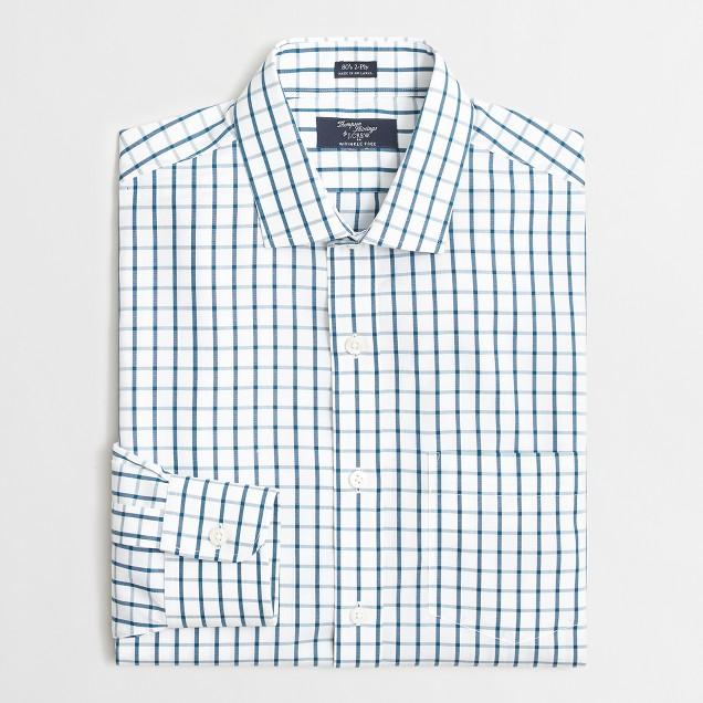 Wrinkle-free Voyager dress shirt in medium gingham