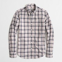 Factory slim heathered plaid shirt
