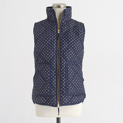 Printed quilted puffer vest