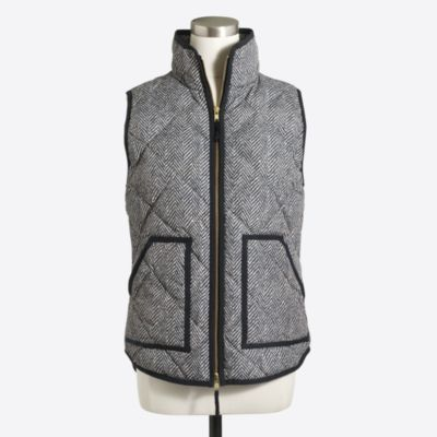 Printed quilted puffer vest   search