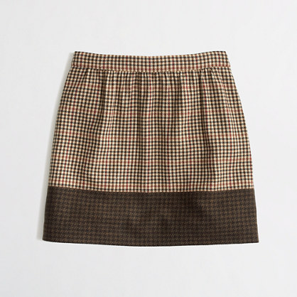 Factory colorblock plaid mini